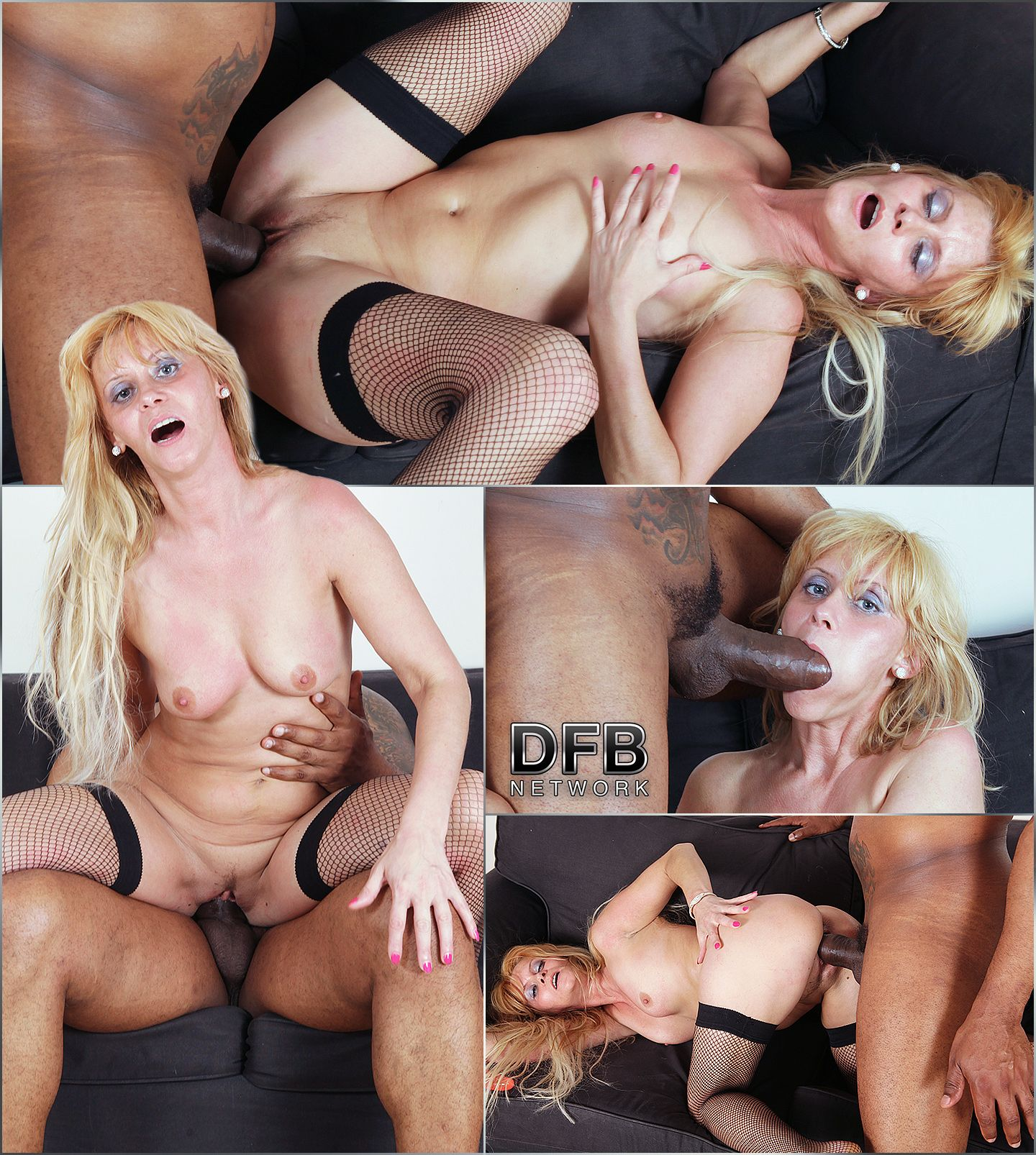 pleasuring a blonde cougar