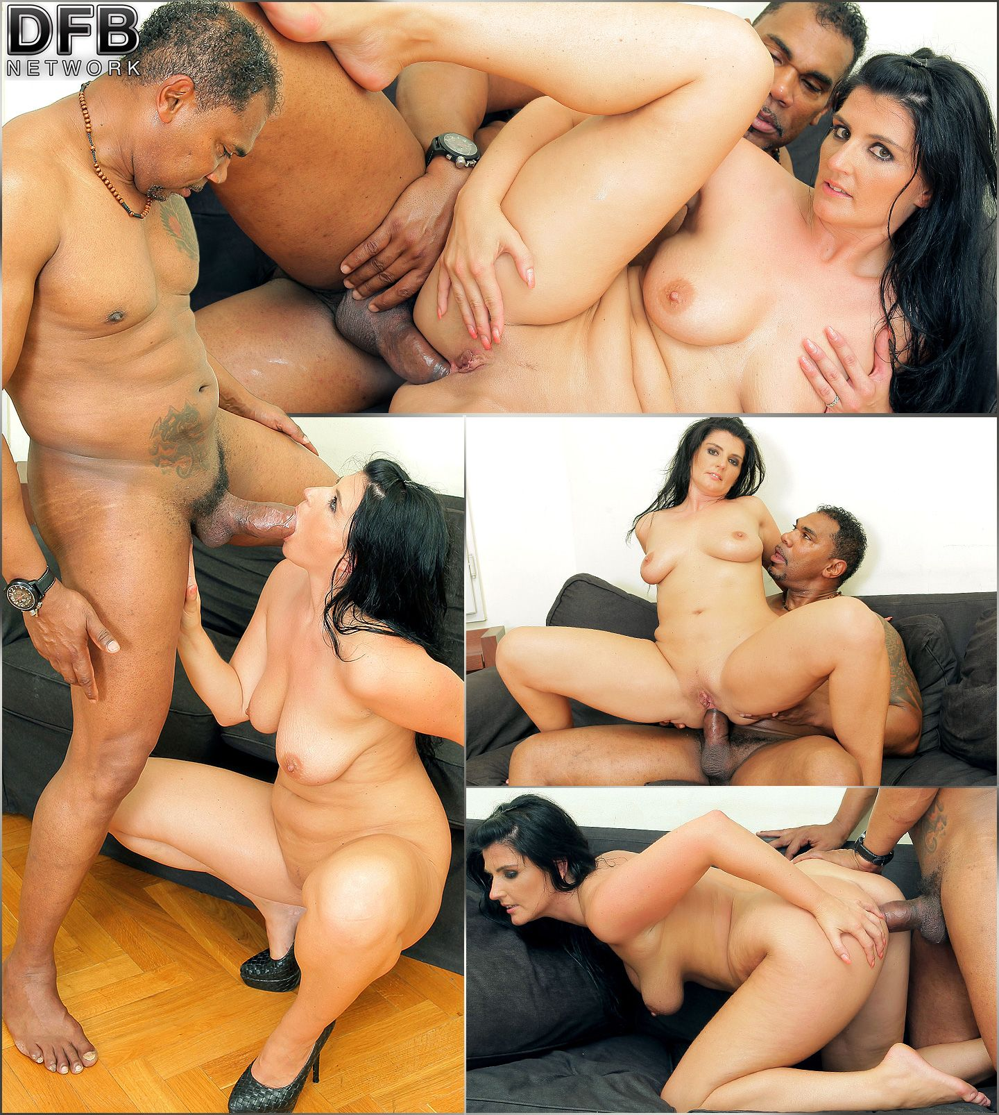 interracial análny Creampies
