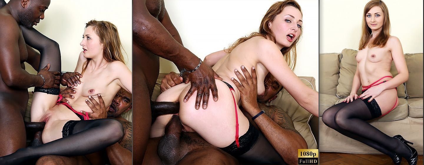 Horny milf gets interracial sex with double penetration