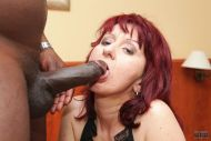 Mature lady takes a big black cock