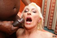 Horny blonde MILF is down for blacks