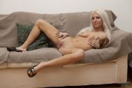 Blonde mature fucked in hard interracial
