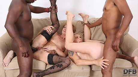 Grannies Interracial BBC Threesome